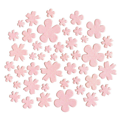 123997 pinkglitterchipboardflowers